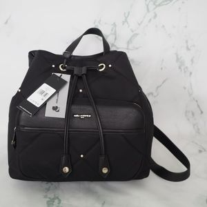 Karl Lagerfeld Quilted Nylon Quincy Backpack